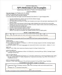 sample reference list template 5 free documents download in pdf