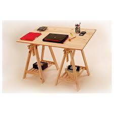 bureau avec treteau bureau architecte composé de 2 tréteaux et plateau pin 120x80x1 8