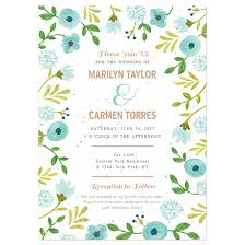 painterly florals plantable wedding invitation plantable wedding