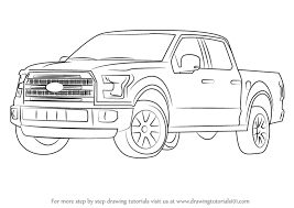 ford f1 50 truck learn how to draw ford f 150 truck trucks by drawing