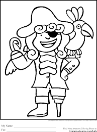 pirate coloring page free printable pirate coloring pages for kids