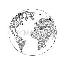 world map globe sketch vector vector art thinkstock