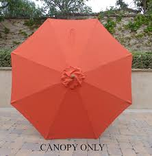 Replacement Outdoor Umbrella Covers by Amazon Com 9ft Umbrella Replacement Canopy 8 Ribs In Orange