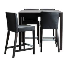 Black Bar Table Bjursta Henriksdal Bar Table And 4 Bar Stools Ikea