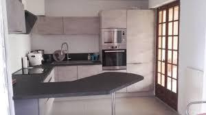 cuisine longuenesse cuisine sur mesure béton clair de h réalisation cuisinella