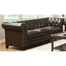 Blu Dot Bonnie Sofa by Amazon Com Coaster Loveseat In Brown Tri Tone Leather Kitchen