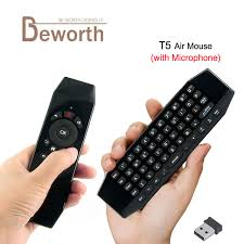 android keyboard with microphone t5 mini air mouse wih mic voice 2 4g wireless 6 axis gyroscope