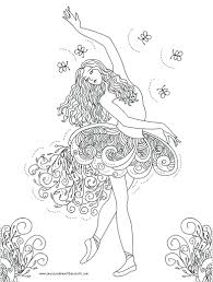 ballerina coloring pages free barbie fun color page kids ballet