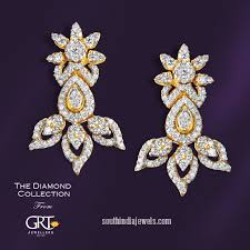 earrings in grt stylish diamond earrings from grt jewellers gold diamond