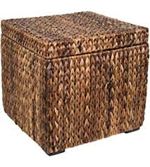 Seagrass Storage Ottoman Best Choice Products Woven Seagrass Storage