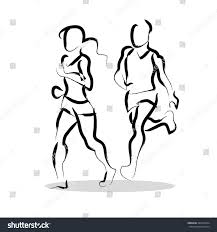 vector hand drawn fitness people sketch stock vector 426723544