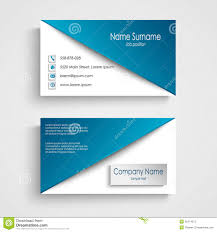 business card with blue white background template stock vector