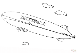 zeppelin coloring page free printable coloring pages