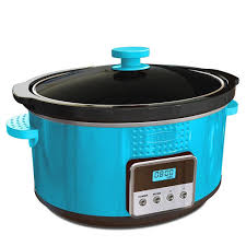amazon com bella 13996 dots collection programmable slow cooker amazon com bella 13996 dots collection programmable slow cooker 5 quart teal bella kitchen slow cooker kitchen dining