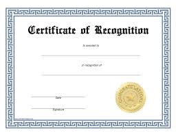 recognition certificate template free 28 images recognition