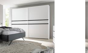 armoire chambre a coucher porte coulissante armoire de chambre à coucher 2 portes blanche et grise