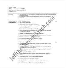 hvac resume template u2013 10 free word excel pdf format download