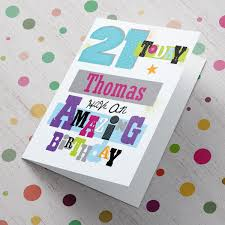 personalised 21st birthday card amazing from 99p