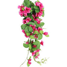 hanging flowers artificial morning trailing spray choose colour hanging