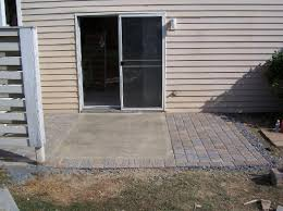 Diy Cement Patio by Pavers Around A Concrete Slab Good Possibility If You Don U0027t Want