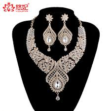 fashion necklace earring sets images Statement india style necklace earrings sets bridal wedding party jpg