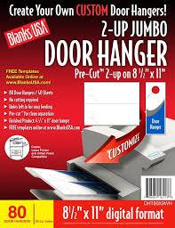 blanks usa pre cut jumbo door hanger 40 sheets 80