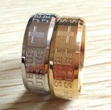 men s religious jewelry wholesale 50pcs gold silver etched jesus stainless steel band rings
