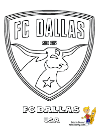 world fifa team coloring page fc dallas of usa you can print out