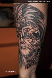 red indian tattoo design real photo pictures images and