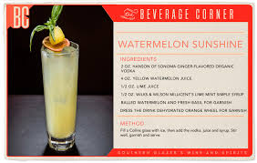 bentley watermelon cocktail of the week watermelon sunshine las vegas weekly