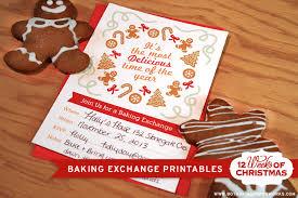 free printable christmas baking exchange blog botanical