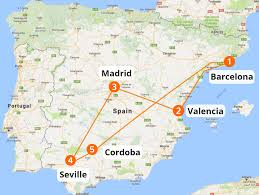 Map Of Valencia Spain by Travel Spain By Train Halo Travel