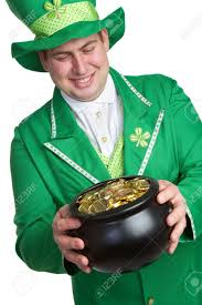 man holding pot of gold stock photo picture and royalty free