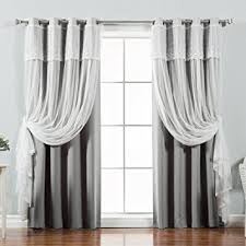 Steel Grey Curtains Best Home Fashion Mix Match Tulle Sheer With