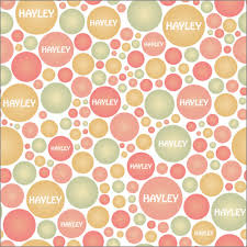 personalized wrapping paper bubbles coral personalized wrapping paper pricing options