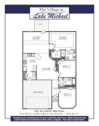 our ultimate one level floor plan offers three bedrooms plus