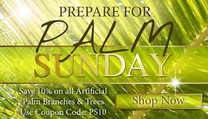 palms for palm sunday purchase everlasting palm trees branches for palm sunday