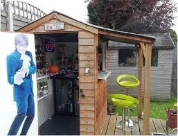 turn your large shed into a man cave backyard shed man cave in