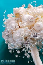 wedding wishes nautical white nautical bridal bouquet with pearls and crystals unique