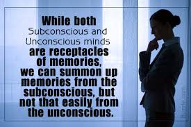 what is the difference between subconscious and unconscious mind