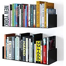 Wall Bookcase Amazon Com Umbra Conceal Floating Bookshelf Small Silver Home