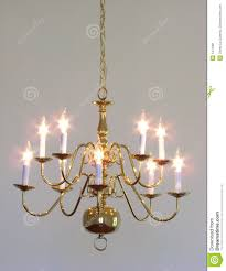 Dining Room Chandelier House Interior Brass Dining Room Light Chandelier Stock Image