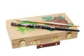 paint brushes on artist box stock photo image of artist studio