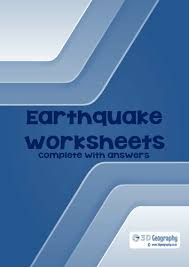 earthquake worksheets complete with answers by idj teaching