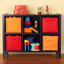 land of nod bankable bookcase 6 cube bookcase midnight blue the land of nod decorating