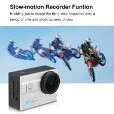 motocross helmet camera q6h 4k 2 0 inch lcd display bike helmet camera eu plug 42 28
