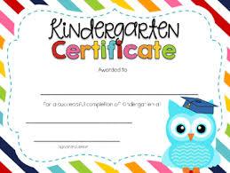 preschool graduation certificate editable kindergarten graduation certificates by kindergarten daze