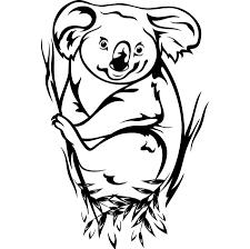 animal cute koala coloring pages womanmate