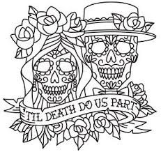 skeleton couple coloring coloring