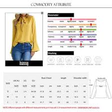 blouse size chart casual tops t shirt summer top sleeve blouse